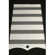 Zebra Panel mit ösen